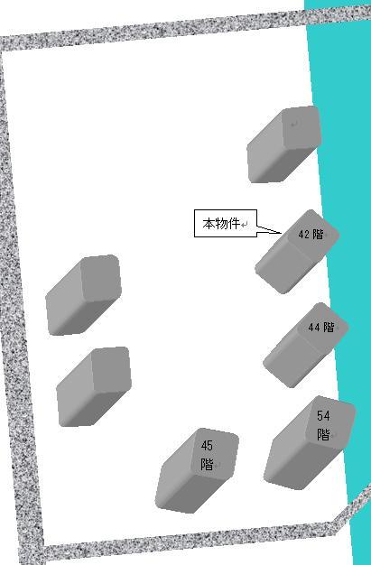 超高層マンションが4棟立ち並ぶ世界